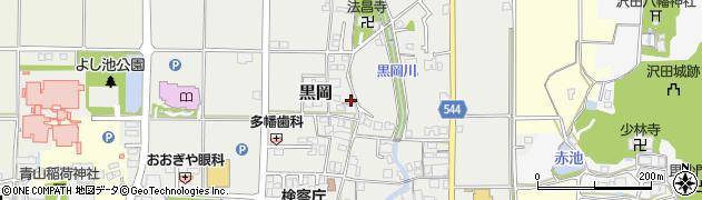 兵庫県丹波篠山市黒岡周辺の地図