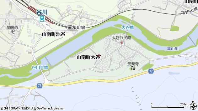 〒669-3124 兵庫県丹波市山南町大谷の地図