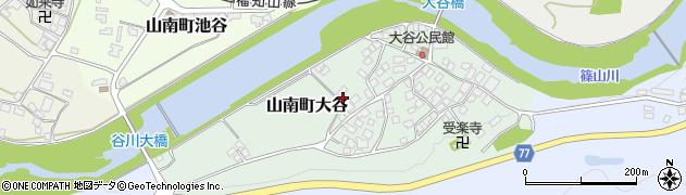 兵庫県丹波市山南町大谷周辺の地図