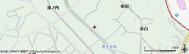 愛知県豊明市沓掛町(車田)周辺の地図