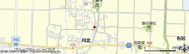 兵庫県丹波篠山市川北周辺の地図