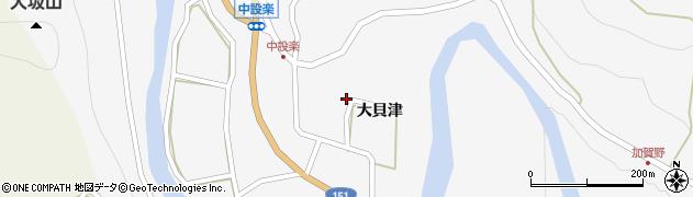 愛知県北設楽郡東栄町中設楽大貝津周辺の地図