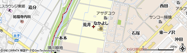 愛知県みよし市西一色町(二ノ沢)周辺の地図