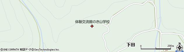 愛知県北設楽郡東栄町下田軒山周辺の地図