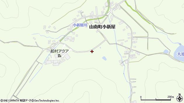 〒669-3155 兵庫県丹波市山南町小新屋の地図