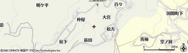 愛知県豊田市上脇町周辺の地図