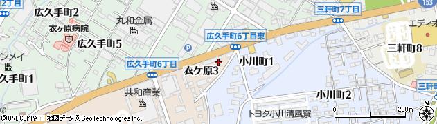カラオケビッグドリーム衣ヶ原店周辺の地図