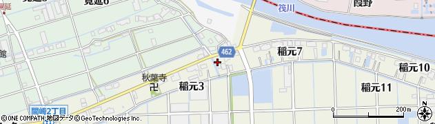 魚角周辺の地図