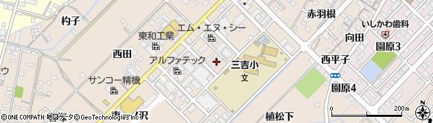 愛知県みよし市三好町(半野木)周辺の地図