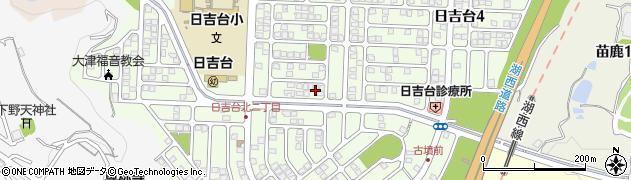 滋賀県大津市日吉台周辺の地図
