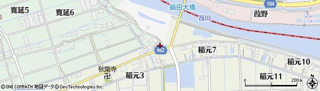 愛知県弥富市間崎町トノ割周辺の地図