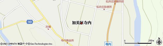 兵庫県多可町(多可郡)加美区寺内周辺の地図