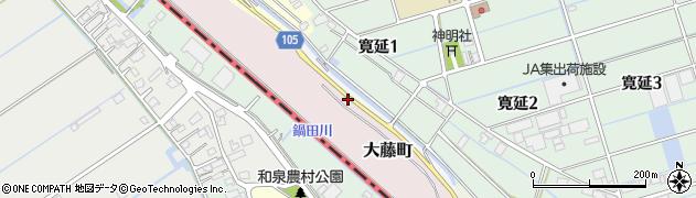愛知県弥富市間崎町イノ割周辺の地図