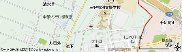 愛知県みよし市打越町(上池田)周辺の地図