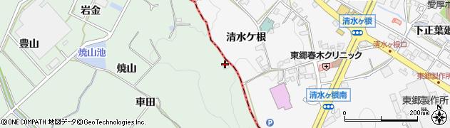 愛知県豊明市沓掛町(水白)周辺の地図