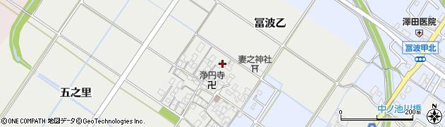 滋賀県野洲市五之里周辺の地図