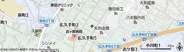 豊田鉄工団地周辺の地図