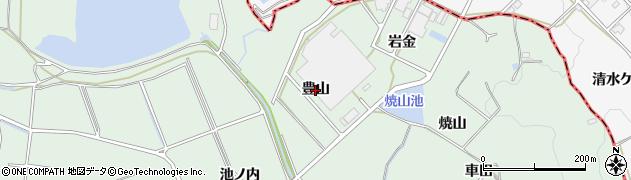愛知県豊明市沓掛町(豊山)周辺の地図