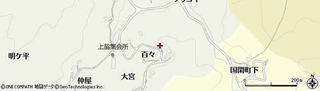 愛知県豊田市上脇町(百々)周辺の地図