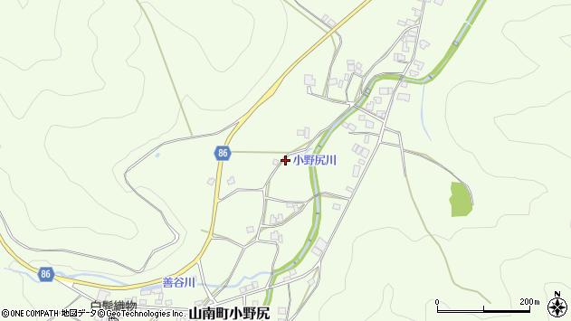 〒669-3166 兵庫県丹波市山南町小野尻の地図