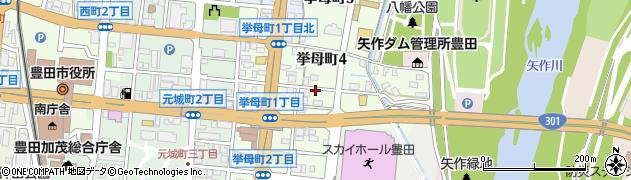 愛知県豊田市挙母町周辺の地図