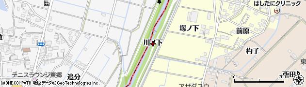 愛知県みよし市西一色町(川ノ下)周辺の地図