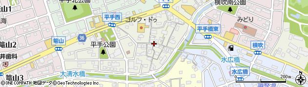 愛知県名古屋市緑区平手南周辺の地図