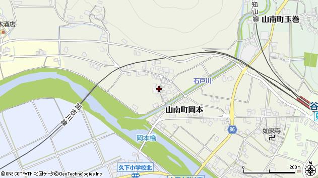 〒669-3127 兵庫県丹波市山南町岡本の地図