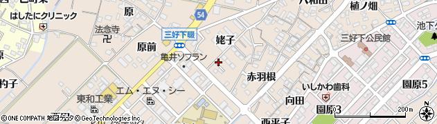 愛知県みよし市三好町(姥子)周辺の地図