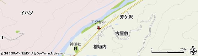 愛知県豊田市石楠町(古屋敷)周辺の地図
