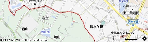 愛知県豊明市沓掛町(焼山)周辺の地図