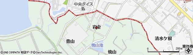 愛知県豊明市沓掛町(岩金)周辺の地図