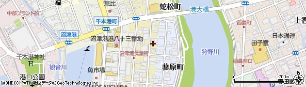 静岡県沼津市春日町周辺の地図