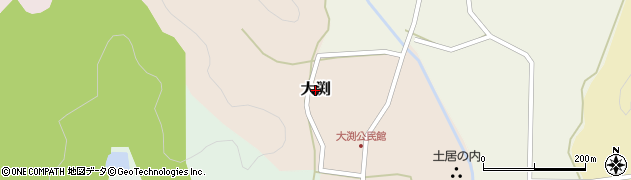 兵庫県丹波篠山市大渕周辺の地図