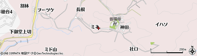 愛知県豊田市幸海町(ミネ)周辺の地図
