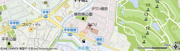 愛知県名古屋市緑区横吹町周辺の地図