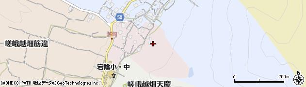 京都府京都市右京区嵯峨越畑南ノ町周辺の地図