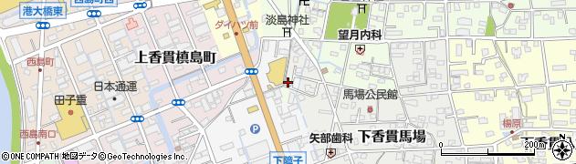 静岡県沼津市下香貫給田周辺の地図