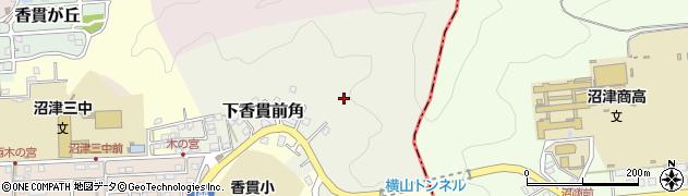 静岡県沼津市下香貫前角周辺の地図