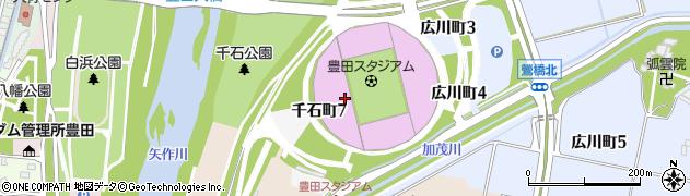 豊田市役所スポーツ施設 豊田スタジアム・ヴェルデロッソ周辺の地図