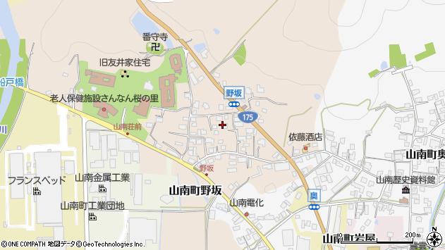〒669-3145 兵庫県丹波市山南町野坂の地図