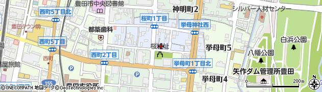 たけ橋周辺の地図
