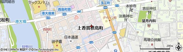 静岡県沼津市上香貫槙島町周辺の地図