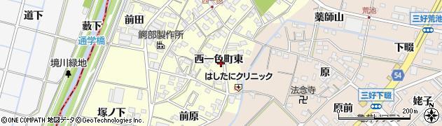 愛知県みよし市西一色町(東)周辺の地図