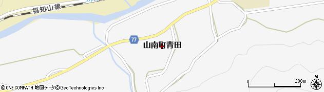 兵庫県丹波市山南町青田周辺の地図