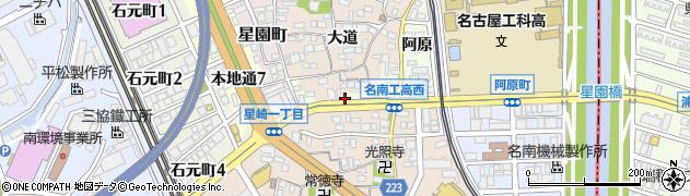 愛知県名古屋市南区星崎町(殿海道)周辺の地図