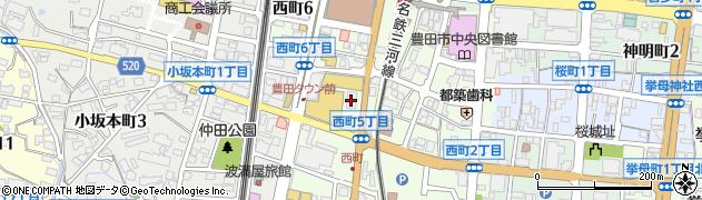 大須二丁目酒場 豊田西町店周辺の地図