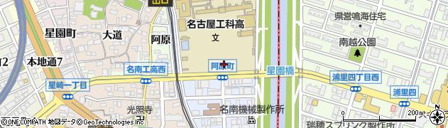 愛知県名古屋市南区阿原町周辺の地図