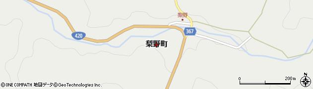 愛知県豊田市梨野町周辺の地図