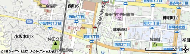 HARU周辺の地図
